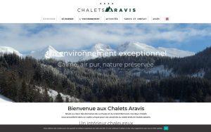 Atelier du Web - Chalets Aravis 2- Accueil1