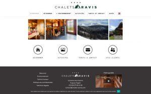 Atelier du Web - Chalets Aravis 2- Accueil2
