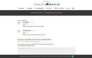 Atelier du Web - Chalets Aravis 2- Avis