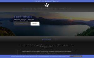 Atelier du Web - Profil Plongee - Accueil